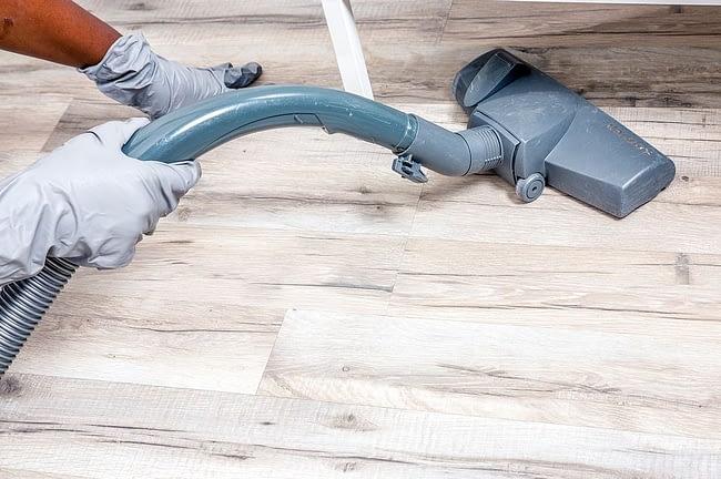 Vacuum Cleaner in use